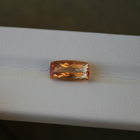 Imperial Topaz Gemstone - 3.11 cts. Cushion Cut - Amazon Imports, Inc. - Fine Quality Gemstones and Jewelry Since 1978