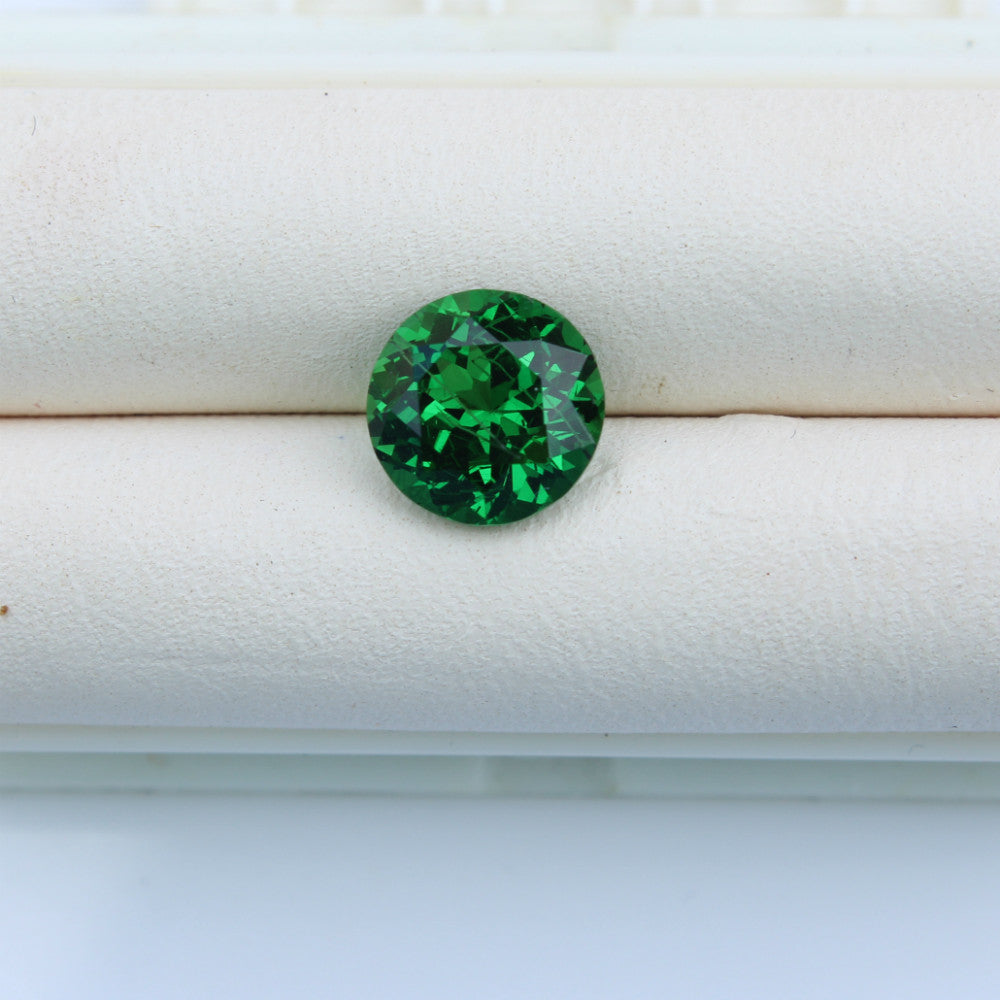 gemstone cushion green sparkling tsavorite cut garnet