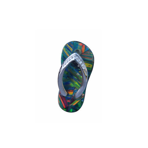 Opal Sandal Pendant in Sterling Silver - Amazon Imports, Inc. - Fine Quality Gemstones and Jewelry Since 1978