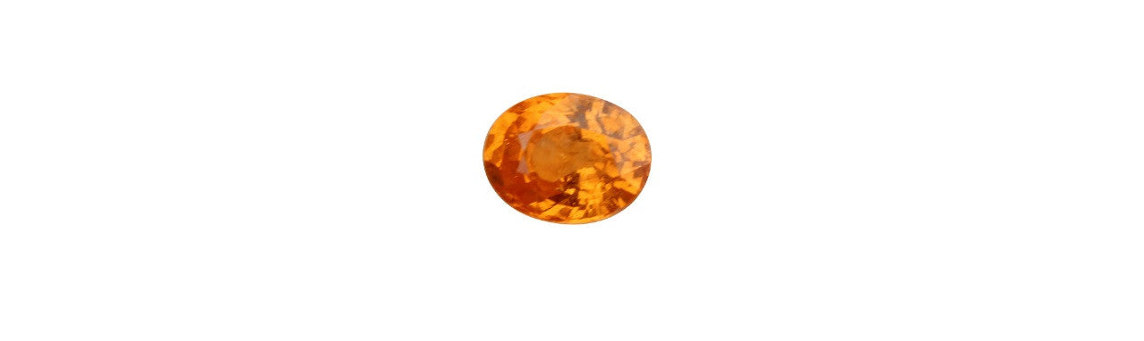 Spessartite Garnet (Mandarin Color) Gemstone - 3.31 cts. Oval Amazon Imports Fine Gemstones and Jewelry Since 1978