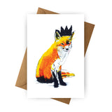 Card - Fox with Black Crown