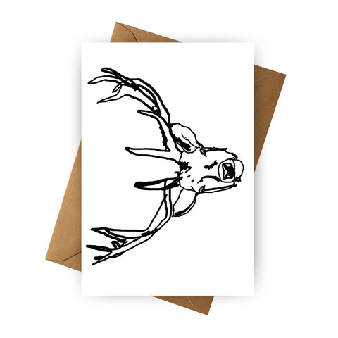 Card - Deer with Antlers