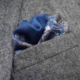 The Floral Pocket Square - Midnight Blue