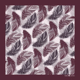 The Feather Pocket Square-Maroon