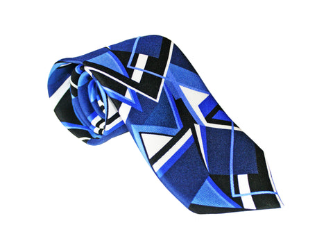 The Abstract Tie - Royal Blue