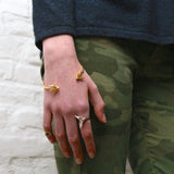 Gold Statement Swallow Ring