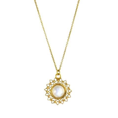 Spectum Pendant Gold With Moonstone