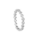 Tiny Diamond Stacking Ring Sterling Silver