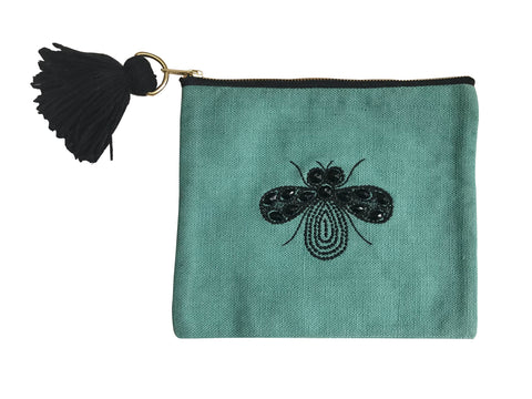 Bottle Green Bug Pouch
