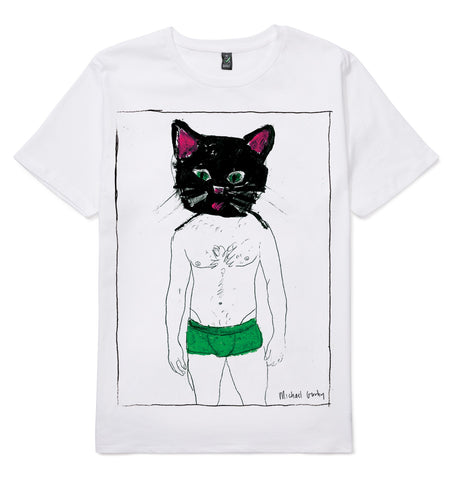 Cat In Green Shorts T-Shirt