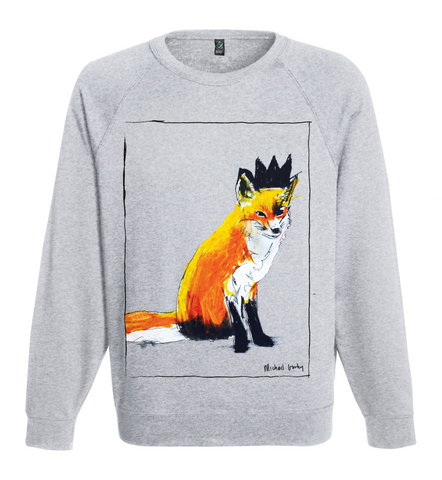 FOX WITH BLACK CROWN SWEATSHIRT