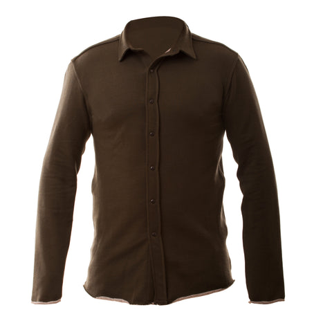 Double Sided Fleece Shirt - Olive