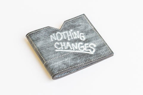 "Slim wallet ""NOTHING CHANGES?!"" Colabaration with TIGRAN AVETISYAN. LIMITED EDITION"