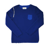 Raw Edge Blue Sweatshirt