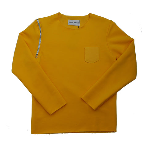 Raw Edge Yellow Sweatshirt