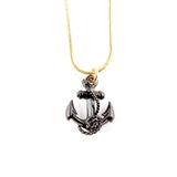 Ruthenium Anchor Pendant