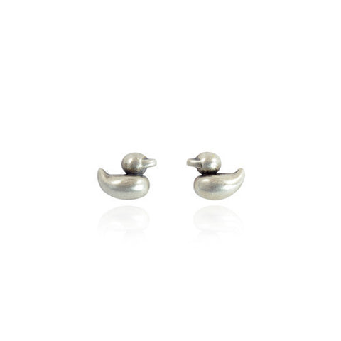 Rosie Duckling Stud Earrings- Silver