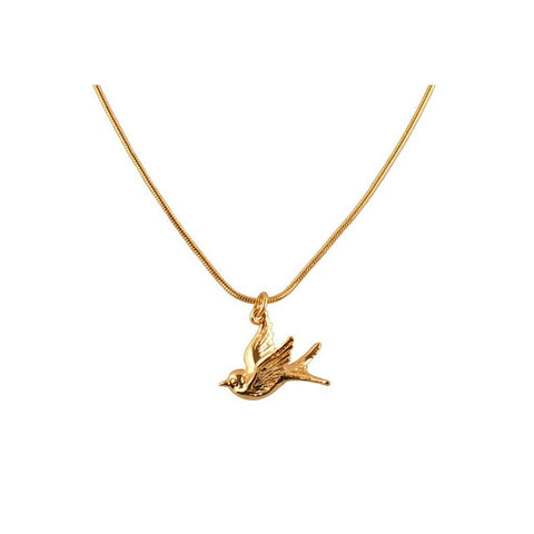 Gold Swallow Pendant