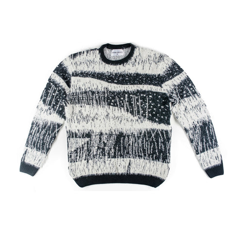 BLACK/White KNIT