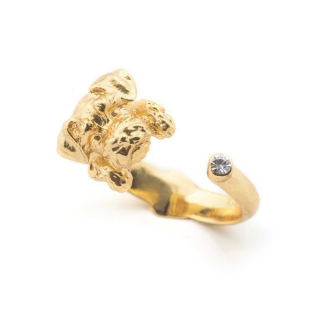Puppy Wally Open Ring - Gold