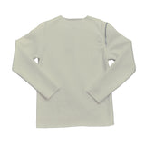 Raw Edge White Sweatshirt