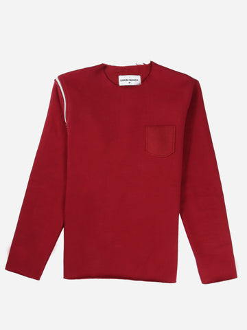 Raw Edge Red Sweatshirt