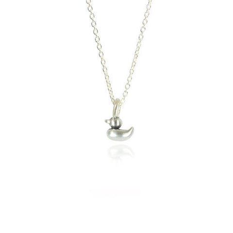 Rosie Duckling Necklace- Silver
