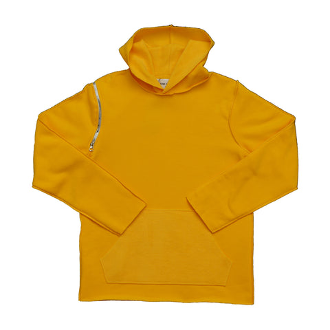 Raw Edge Yellow Hoodie