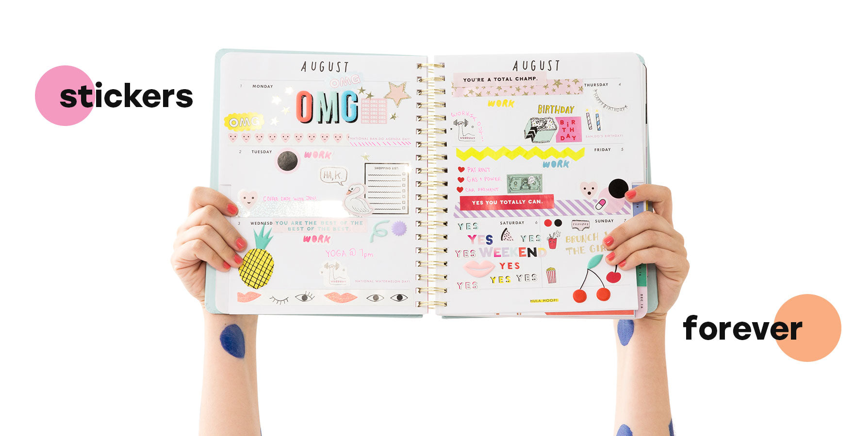 agenda and planner stickers