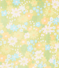 green, yellow, white, and blue floral pattern