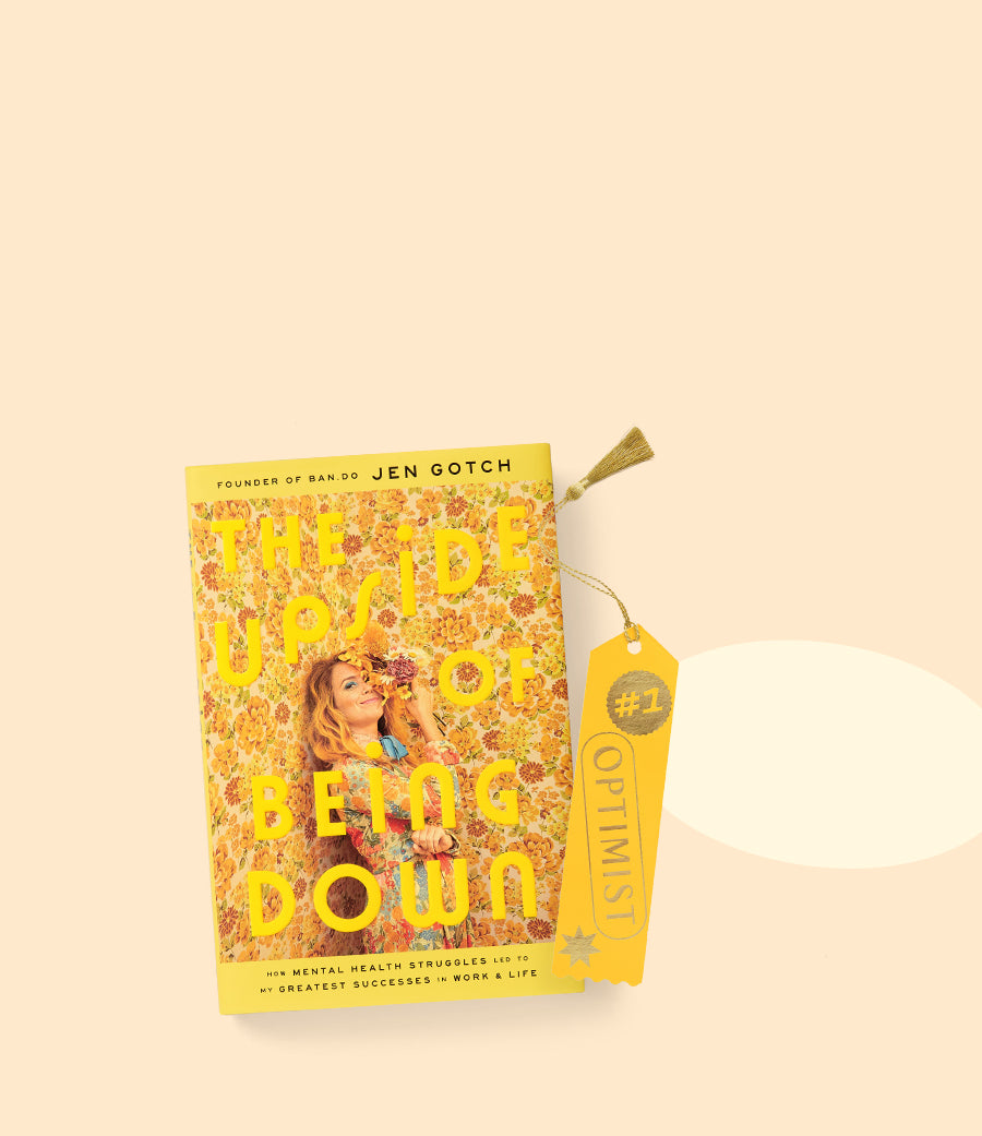 Cover of The Upside of Being Down with yellow bookmark