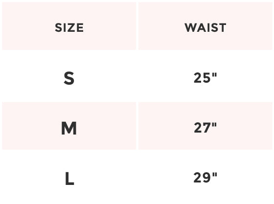 holographic shorts size chart