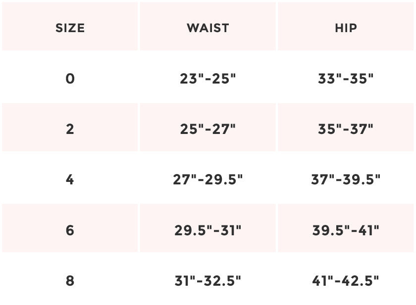 overalls size chart