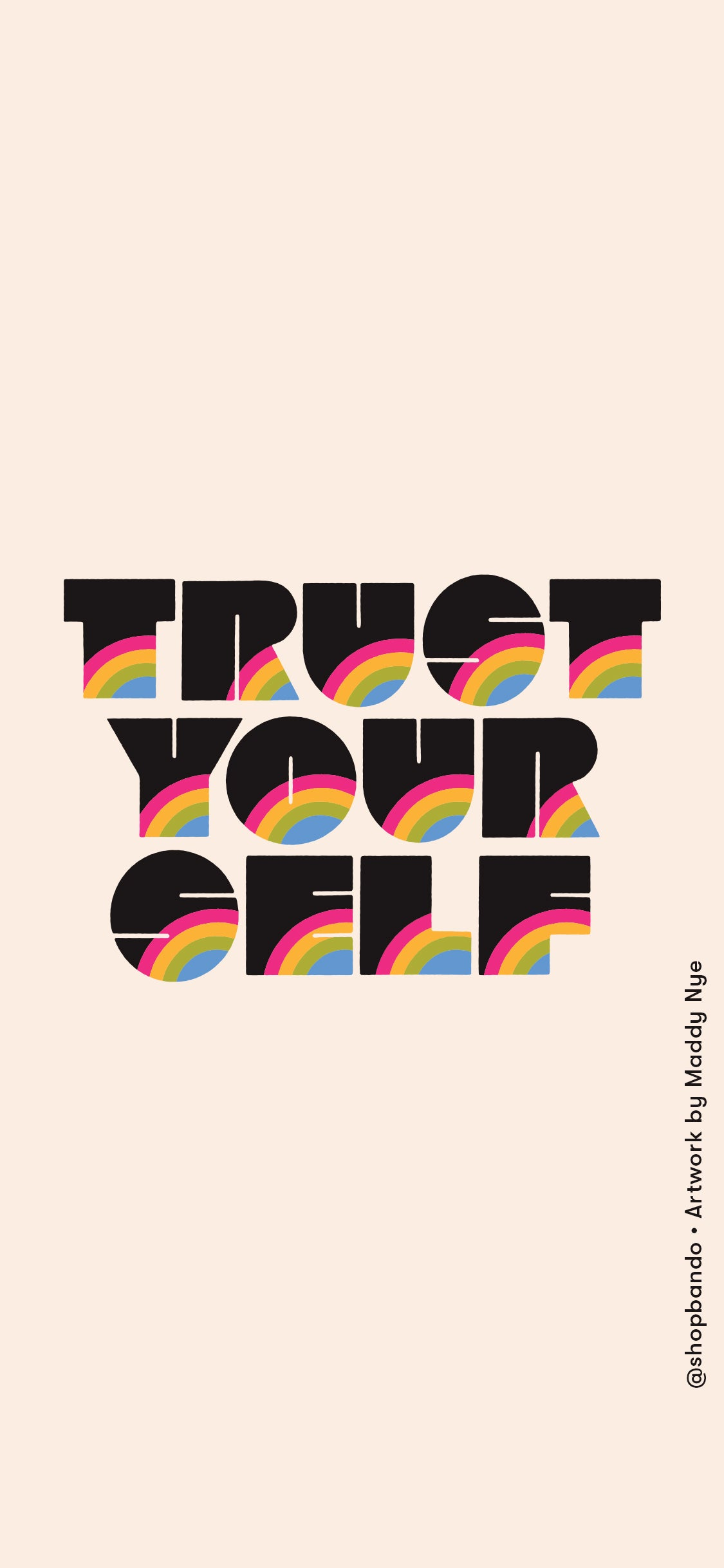 trust yourself lettering
