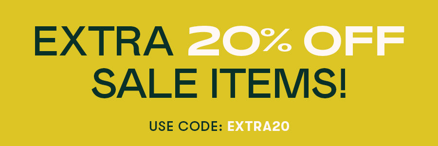 Extra 20% off sale items! Use code: EXTRA20