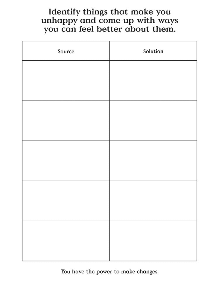 Source and solution worksheet for planning