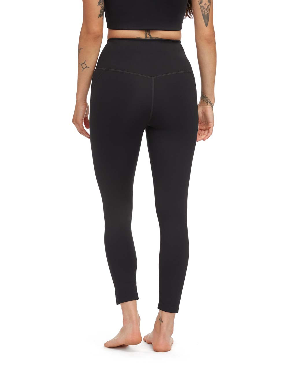 4f297958143dc3 7/8 Compression Legging - Black by Girlfriend Collective - active ...