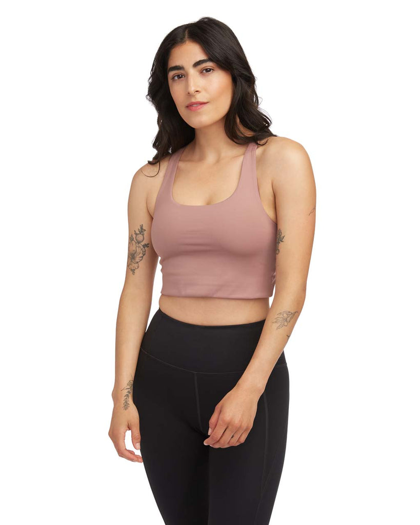 This Paloma Bra by Girlfriend Collective comes in rose quartz.