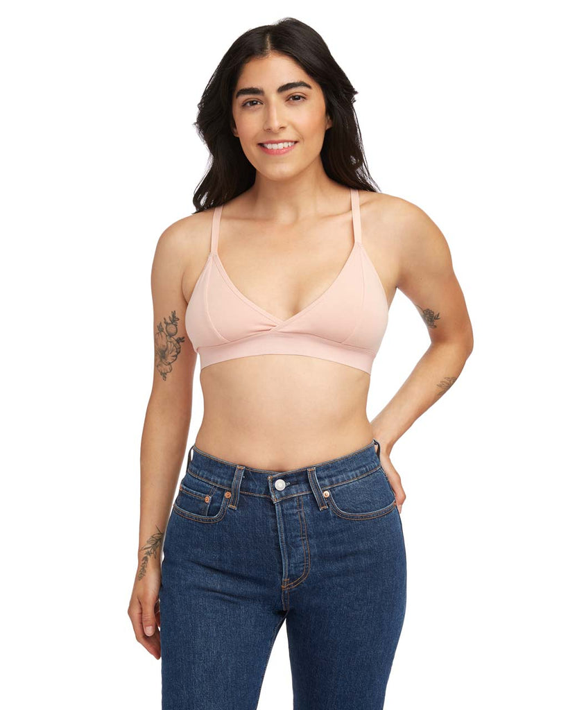 This bralette by Richer Poorer comes in dusty rose.