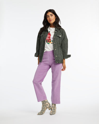Corduroy Trousers - Lilac