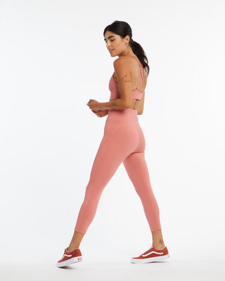 7/8 compression active leggings in clay.