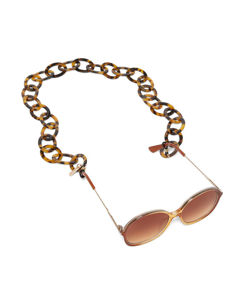 tort large link accessory chain shown on sunglasses