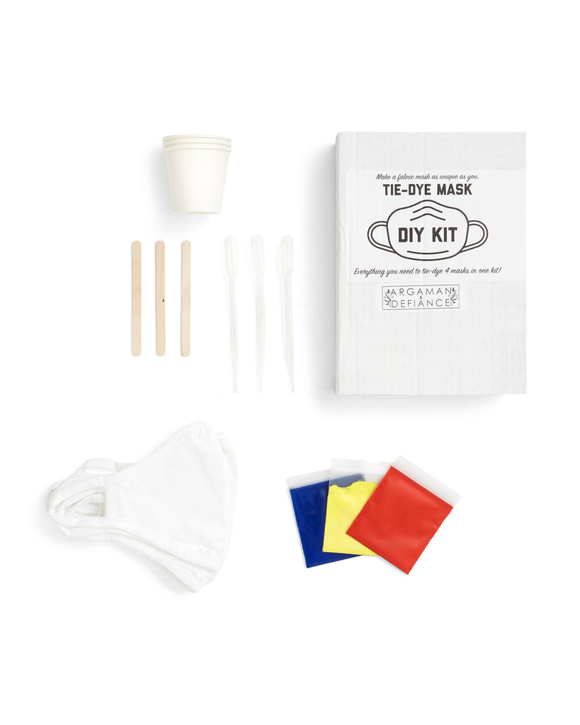 DIY tie dye face mask kit