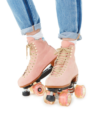 These Lolly Roller Skates by Moxi Roller Skates come in pink.