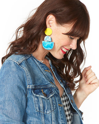 horizon earrings - teal