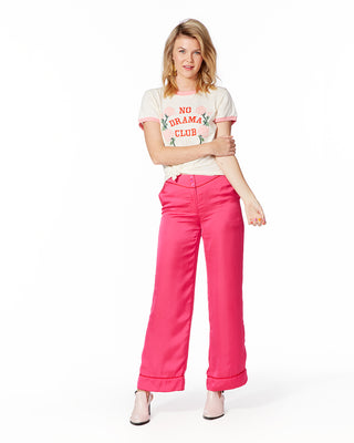 pink silky pant