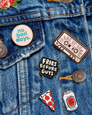 enamel pin - break up songs
