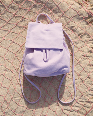 canvas mini backpack - lilac