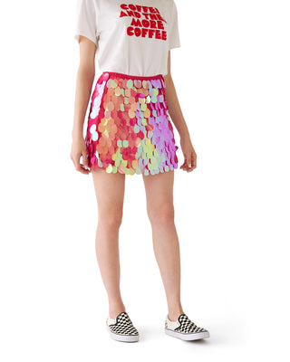 wyne skirt - fuchsia shine