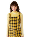 yellow & white stripe turtleneck